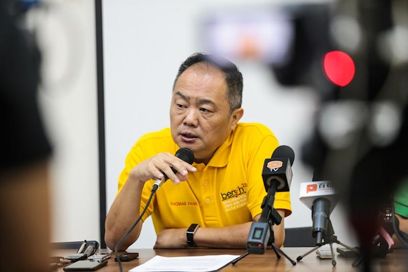 Bersih 2.0 chairman Thomas Fann said consideration had been given to many things, including next month's Deepavali celebration, the fact Fridays and Saturdays are weekend days in Johor, as well as the 14-day campaign period. — Picture by Ahmad Zamzahuri