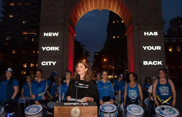 New York City Deputy Mayor Alicia Glen announces the Women.NYC campaign on Thursday. (Photo: Michael Appleton/Mayoral Photography Office)