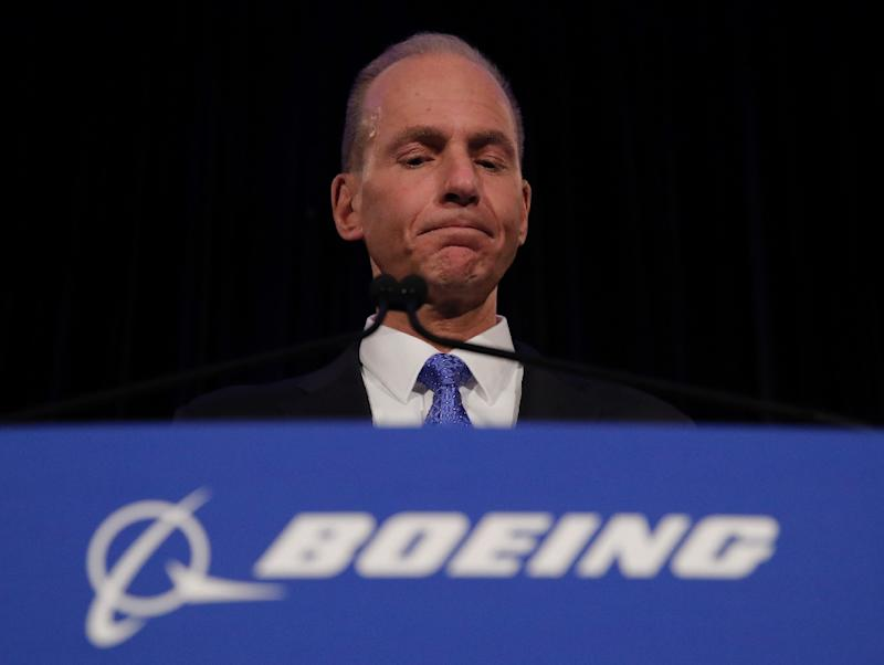 Engineers from Boeing, whose Chief Executive Dennis Muilenburg is pictured here, idenftified a fault with a pilot warning system on 737 MAX planes over a year before deadly crashes that left nearly 350 people dead