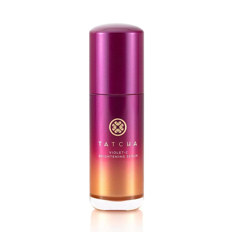 """Everything you love about the brand's beloved lavender mask, in serum form. Tatcha launched this <a href=""""https://www.allure.com/story/tatcha-violet-c-brightening-serum-with-vitamin-c?mbid=synd_yahoo_rss"""" rel=""""nofollow noopener"""" target=""""_blank"""" data-ylk=""""slk:Violet-C Brightening Serum"""" class=""""link rapid-noclick-resp"""">Violet-C Brightening Serum</a>, which has 20 percent vitamin C + 10 percent <a href=""""https://www.allure.com/gallery/what-you-didnt-know-about-lactic-salicylic-citric-glycolic-acid-creams?mbid=synd_yahoo_rss"""" rel=""""nofollow noopener"""" target=""""_blank"""" data-ylk=""""slk:alpha hydroxy acids"""" class=""""link rapid-noclick-resp"""">alpha hydroxy acids</a> (AHAs), making it a formidable force against dark spots and dullness. $88, Tatcha. <a href=""""https://click.linksynergy.com/deeplink?id=MZ9491VLjxM&mid=38643&u1=AllureVitaminCSerums&murl=https%3A%2F%2Fwww.tatcha.com%2Fproduct%2FVIOLET-C-SERUM.html%3F"""" rel=""""nofollow noopener"""" target=""""_blank"""" data-ylk=""""slk:Get it now!"""" class=""""link rapid-noclick-resp"""">Get it now!</a>"""