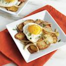 """<p><a href=""""https://www.myrecipes.com/extracrispy/how-to-top-hash-browns"""" rel=""""nofollow noopener"""" target=""""_blank"""" data-ylk=""""slk:Hash browns"""" class=""""link rapid-noclick-resp"""">Hash browns</a> are delicious, but they're too much work to make at home. Here's an easier method using fingerling potatoes that's equally as good and makes the perfect accompaniment to fried eggs. Your kids might even think the potatoes are <a href=""""https://www.myrecipes.com/side-dish-recipes/homemade-french-fry-recipes"""" rel=""""nofollow noopener"""" target=""""_blank"""" data-ylk=""""slk:better than French fries"""" class=""""link rapid-noclick-resp"""">better than French fries</a>.</p>"""