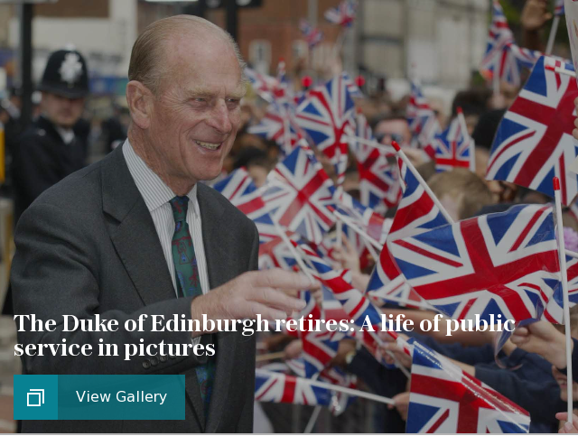The Duke of Edinburgh retires: A life of public service in pictures