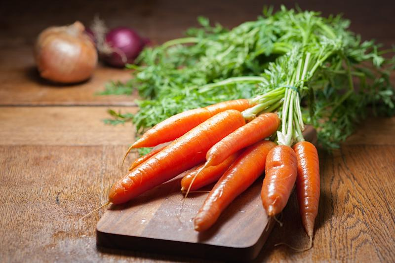 Orange foods such as carrots could keep wrinkles at bay [Photo: Getty]