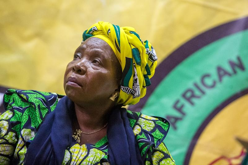 Nkosazana Dlamini-Zuma, former African Union chief and President Jacob's Zuma's ex-wife, is one of the favourites to be the next ANC leader (AFP Photo/RAJESH JANTILAL)