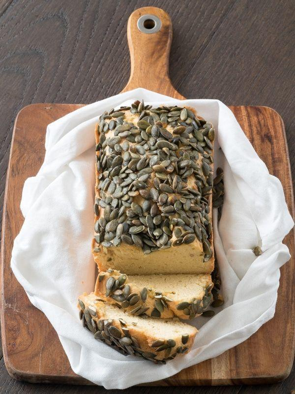 "<p>Instead of traditional dinner rolls for the holiday, enjoy a slice of this keto-approved pumpkin bread from <a href=""https://ketogasm.com/keto-bread-with-pumpkin-seeds-recipe/"" rel=""nofollow noopener"" target=""_blank"" data-ylk=""slk:Ketogasm"" class=""link rapid-noclick-resp"">Ketogasm</a>. Each slice has 257 calories, but it's also gluten-free and packed with healthy fats from the pumpkin seeds. And there are only 3 net grams of carbs a slice.</p>"
