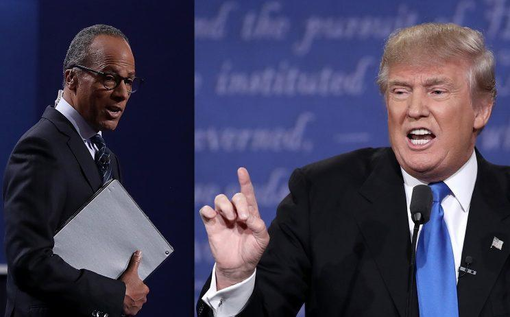 NBC's Lester Holt and Donald Trump. (Win McNamee/Getty Images, Justin Sullivan/Getty Images)