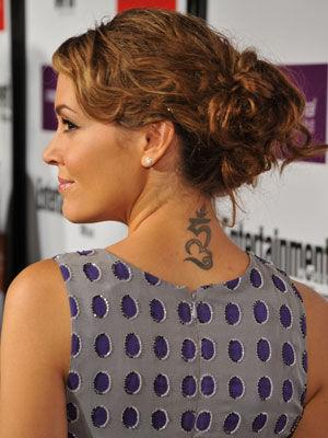 Not her only tattoo - Alyssa Milano also has a tattoo on her ankle.