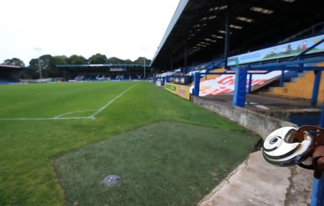 Bury were expelled from the Football League in August (Peter Byrne/PA)