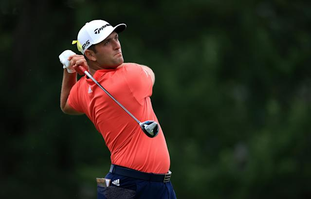 "After a dominant win at the Memorial Tournament on Sunday, Jon Rahm jumped <a class=""link rapid-noclick-resp"" href=""/pga/players/8016/"" data-ylk=""slk:Rory McIlroy"">Rory McIlroy</a> to claim the top spot in the World Golf Rankings. (Andy Lyons/Getty Images)"