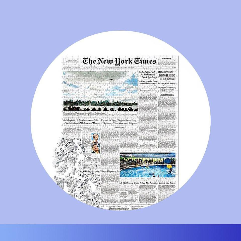 """<p><strong>The New York Times</strong></p><p>nytimes.com</p><p><strong>$60.00</strong></p><p><a href=""""https://go.redirectingat.com?id=74968X1596630&url=https%3A%2F%2Fstore.nytimes.com%2Fproducts%2Fnew-york-times-front-page-jigsaw%3Fvariant%3D35826436360&sref=https%3A%2F%2Fwww.bestproducts.com%2Flifestyle%2Fg376%2Ftop-christmas-gift-ideas%2F"""" rel=""""nofollow noopener"""" target=""""_blank"""" data-ylk=""""slk:Shop Now"""" class=""""link rapid-noclick-resp"""">Shop Now</a></p><p>This personalized 500-piece puzzle is a fun and interactive option that's unlike anything they've ever received before. Select a meaningful day — their birthday, anniversary, or date of a significant milestone — and the seller will create a puzzle featuring the front page of <em>The New York Times</em> from that day.</p>"""