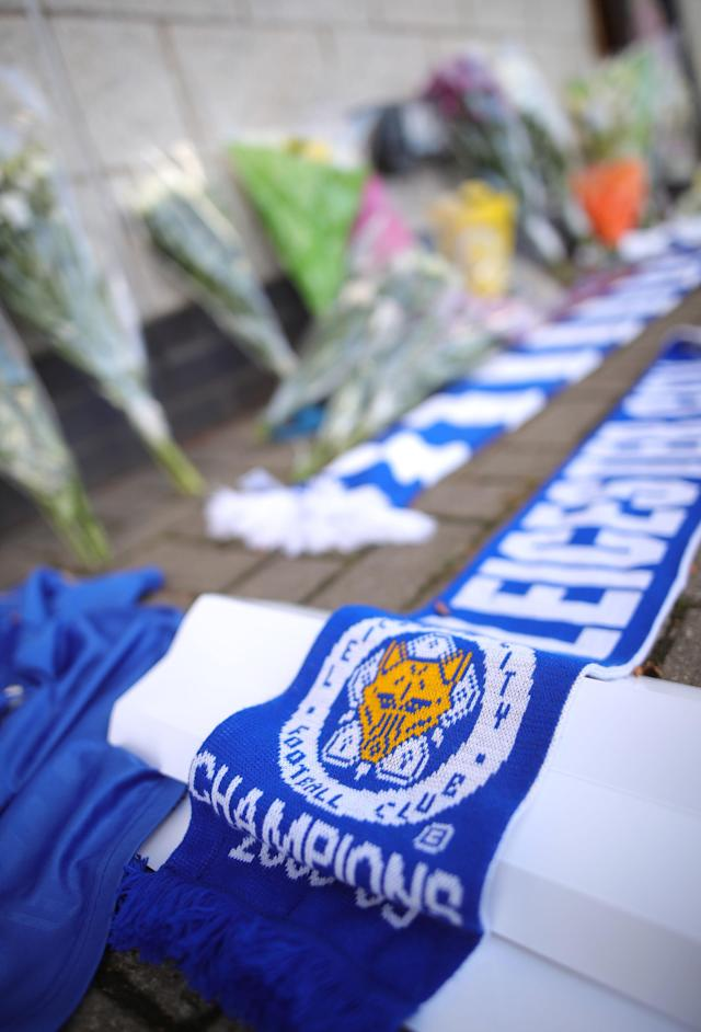 <p>Leicester City scarf laid down. Aaron Chown/PA Wire </p>