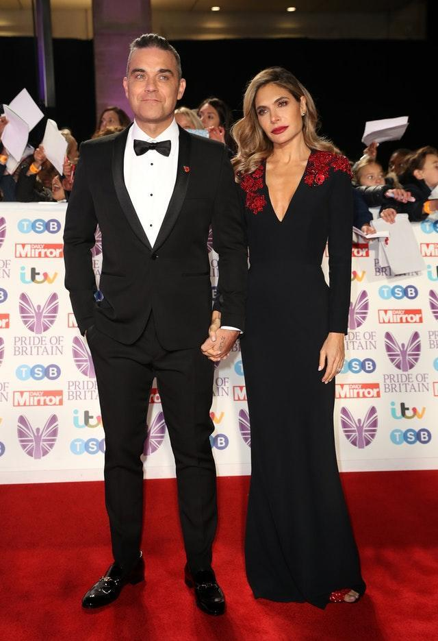 Robbie Williams and wife Ayda on the red carpet