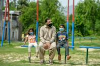 Aamir Gill (C), a cleaner and member of Pakistan's Christian underclass, was fired with no warning days after the coronavirus crisis took hold in Pakistan