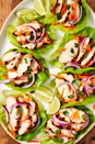 """<p>Loaded with crunchy fresh veggies and flavorful <a href=""""https://www.delish.com/cooking/recipe-ideas/a30609287/how-to-marinate-chicken/"""" rel=""""nofollow noopener"""" target=""""_blank"""" data-ylk=""""slk:marinated chicken"""" class=""""link rapid-noclick-resp"""">marinated chicken</a>, all you need is a squeeze of lime juice to tie everything together.<br></p><p>Get the recipe from <a href=""""https://www.delish.com/cooking/recipe-ideas/recipes/a57645/thai-chicken-lettuce-cups-recipe/"""" rel=""""nofollow noopener"""" target=""""_blank"""" data-ylk=""""slk:Delish"""" class=""""link rapid-noclick-resp"""">Delish</a>.</p>"""