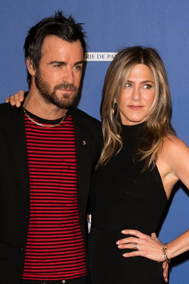 """<p><b>When: April 13, 2017</b><br />Jennifer Aniston completely <em>killed it</em> in this sexy, black cutout dress as she attended the """"Series Mania Festival"""" with husband Justin Theroux. <em>(Photos: Getty)</em> </p>"""