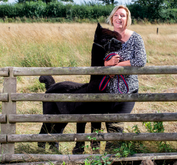 Geronimo's owner Helen Macdonald breeds alpacas at her farm in south Gloucestershire. (SWNS)
