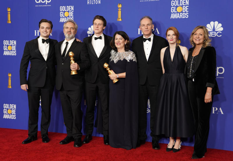 '1917' won Best Drama at the Golden Globes, beating out Netflix frontrunners 'The Irishman' and 'Marriage Story'