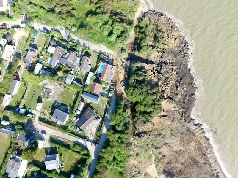 Malcolm Newell, who lives in Surf Crescent, the area affected, has been campaigning to get more protection for the cliff-top homes since 2015. (Picture: SWNS)