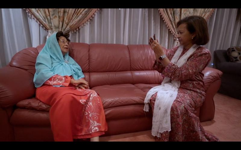 A screengrab of the documentary showing Datin Paduka Marina Mahathir recording her mum Tun Dr Siti Hasmah Mohd Ali. — Picture courtesy of 'M for Malaysia'