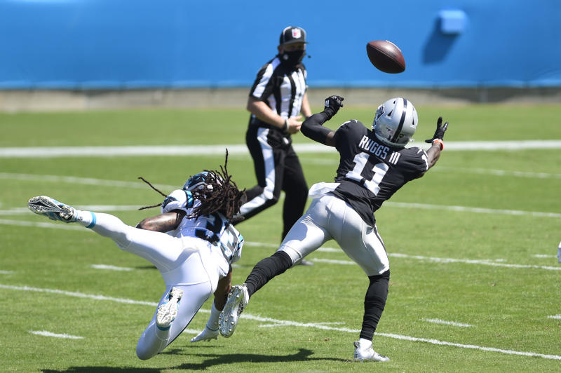 Raiders OC Greg Olson says it's just a matter of time before WR Henry Ruggs makes more explosive plays