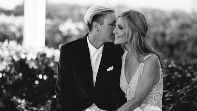 Former Soccer Pro Abby Wambach Marries Christian Mommy Blogger