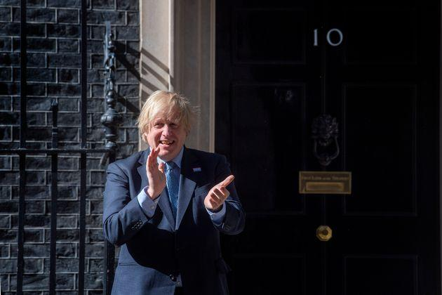 Boris Johnson joined in to clap the NHS on its 72nd birthday.