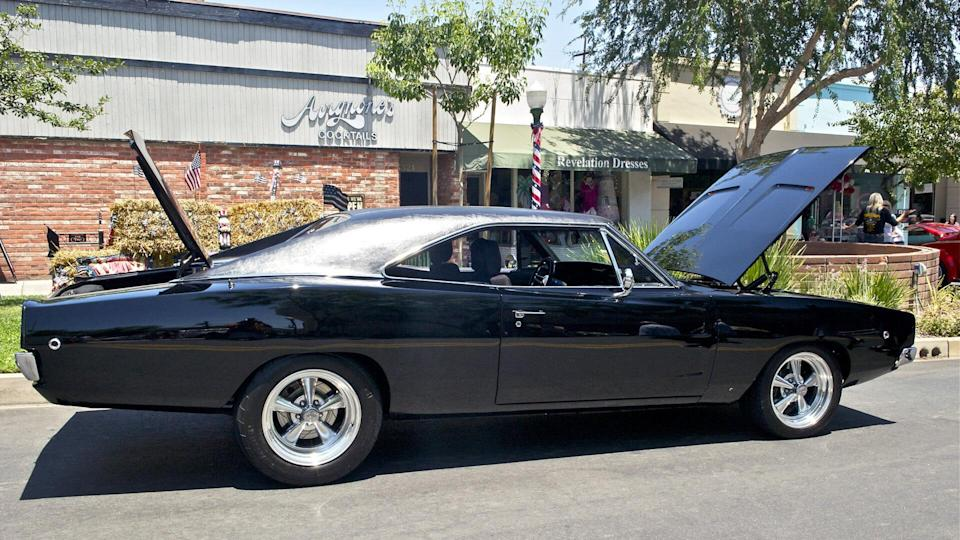 MONTROSE/CALIFORNIA - JULY 6, 2014: 1968 Dodge Charger owned by Larry Peterson at the Montrose Hot Rod & Classic Car Show.