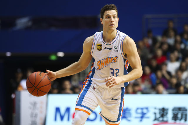 Jimmer Fredette has been playing in China, and if his 75-point game is any indication, he's enjoying it. (Photo by VCG/VCG via Getty Images)