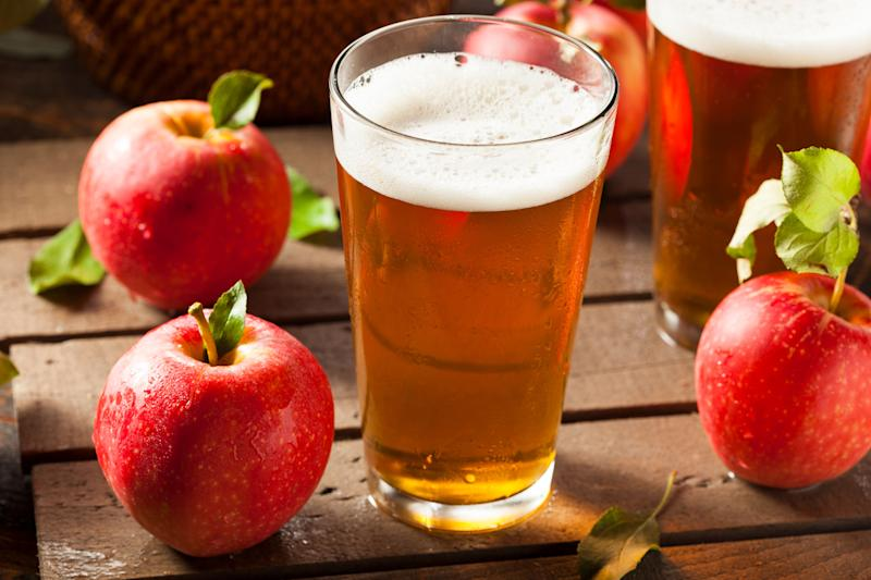 """A <a href=""""https://greatist.com/health/beer-or-cider-healthier"""" target=""""_blank"""">slightly less&nbsp;caloric choice</a>&nbsp;than many beers, and gluten-free, too."""