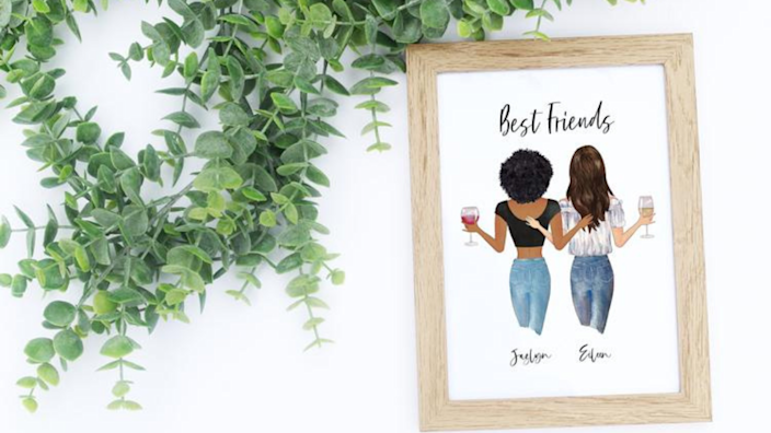 Best photo gifts of 2020: Custom Best Friends Portrait