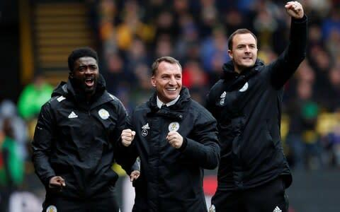 <span>Brendan Rodgers' backroom staff are crucial to the club's success</span> <span>Credit: reuters </span>