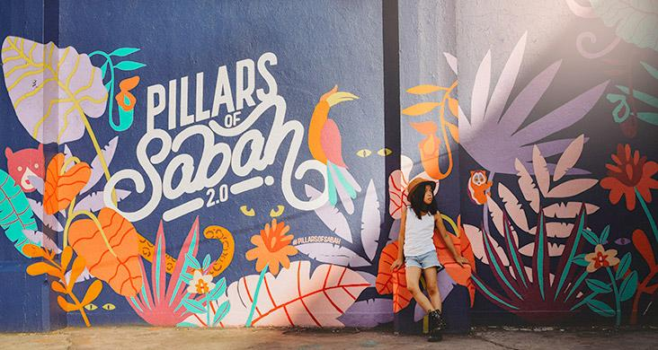 Pillars of Sabah is a great project showcasing the work of local artists.