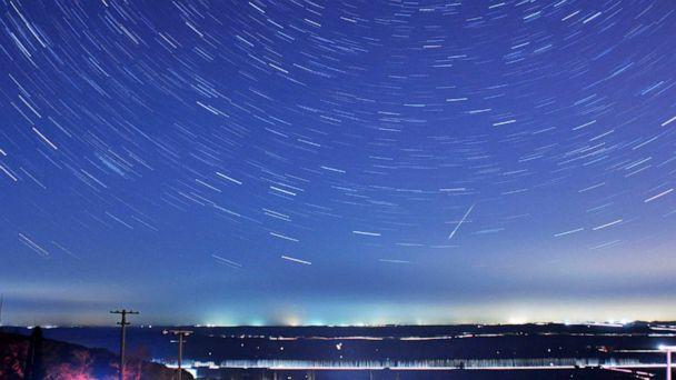 PHOTO: A meteor streaks past stars during the annual Quadrantid meteor shower in Qingdao, Shandong province,China, Jan. 4, 2014. (China Stringer Network via Reuters, FILE)