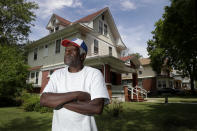 """Gerald Armstrong recalls his time working for the old Kansas City Athletics as an attendant and ball boy in the visitor's clubhouse, as he speaks from the home where he grew up and now lives in Kansas City, Mo., on Friday, June 26, 2020. """"I think a lot of Black men have been molested and for cultural reasons they just don't come forward to deal with it,"""" he said. """"And if you don't deal with it, you're looking at a lot of emotional problems."""" (AP Photo/Charlie Riedel)"""