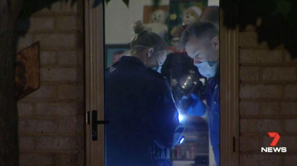 The man used a home-made weapon in the home invasion in Mandurah. Source: 7 News