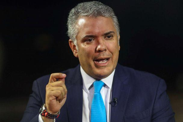 PHOTO: Ivan Duque, Colombia's president in Davos, Switzerland, Jan. 23, 2020. (Simon Dawson/Bloomberg via Getty Images, FILE)
