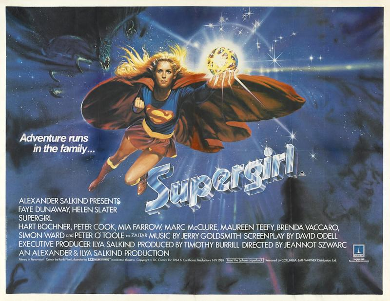 Helen Slater starred as Supergirl in the 1984 movie. (Columbia-EMI-Warner)