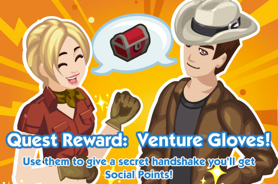 The Sims Social Venture Gloves reward