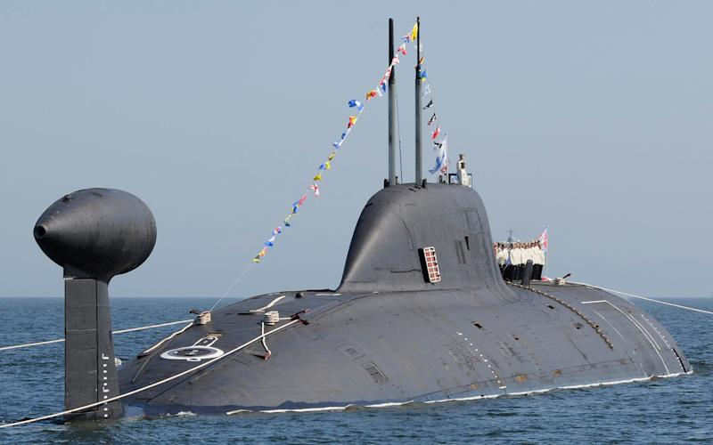A Russian nuclear submarine in Vladivostok - Reuters