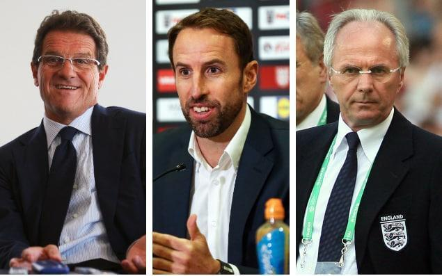 England managers of recent years have taken contrasting approaches when it comes to building up or knocking down their team's World Cup hopes - getty images