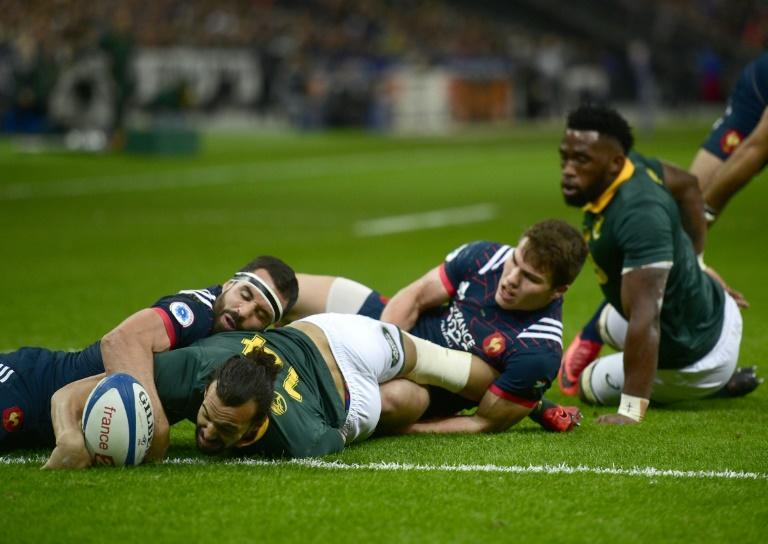 Dillyn Leyds scored his only South Africa try against France in 2017