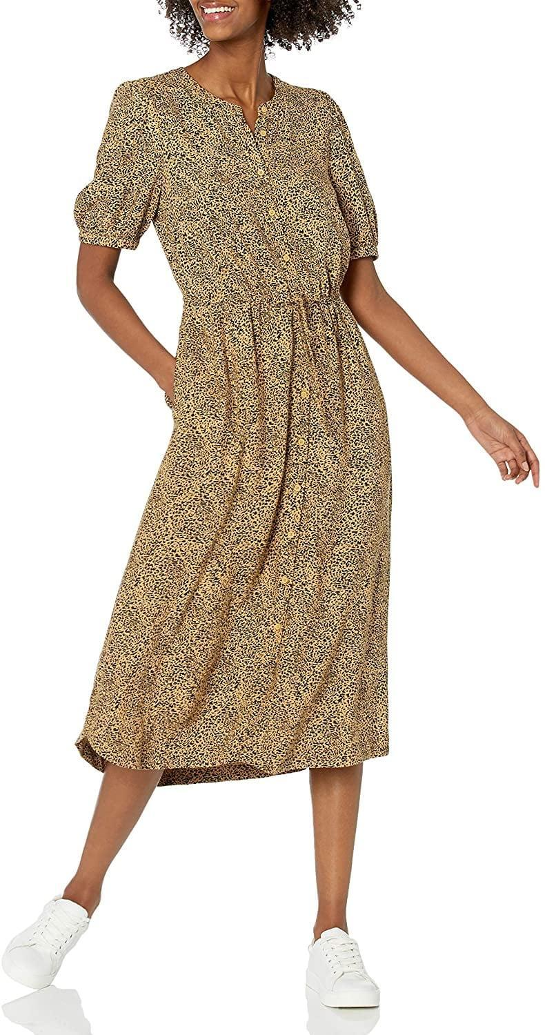 <p>This <span>Amazon Essentials Midi A-Line Dress</span> ($28) features an easygoing silhouette that makes it look relaxed yet put-together. Finish off your looks with some sneakers or low-heeled sandals.</p>