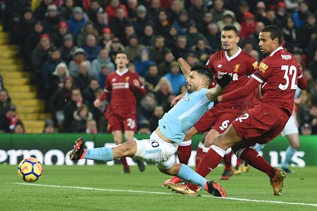 Liverpool have inflicted Manchester City's only Premier League defeat of the season and the two sides will now meet in the Champions League quarter-finals (AFP Photo/Oli SCARFF )