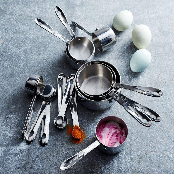 All-Clad Stainless Steel Measuring Cups & Spoons Ultimate Set