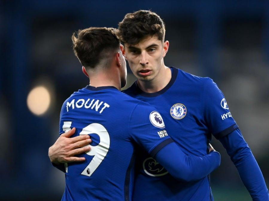 <p>Kai Havertz in action against Everton</p> (Getty Images)