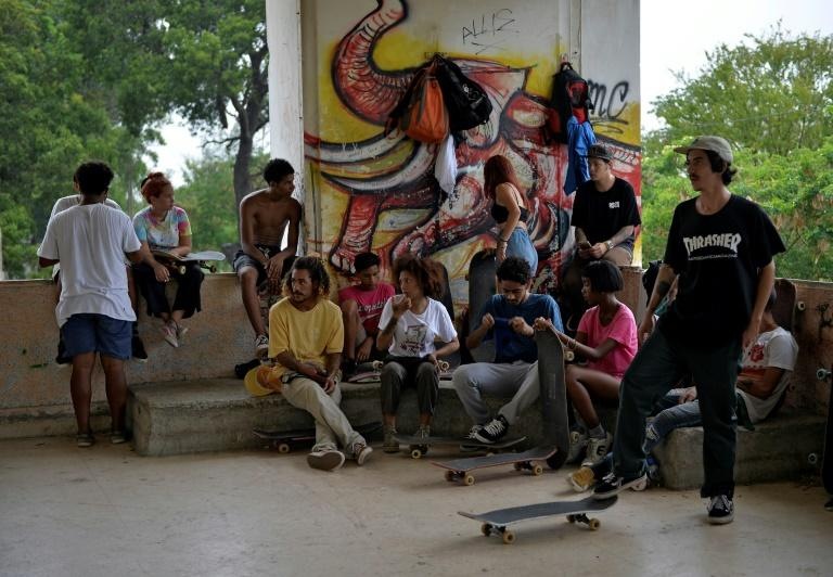 Young Cuban skateboarders dream of one day taking part in the Olympics