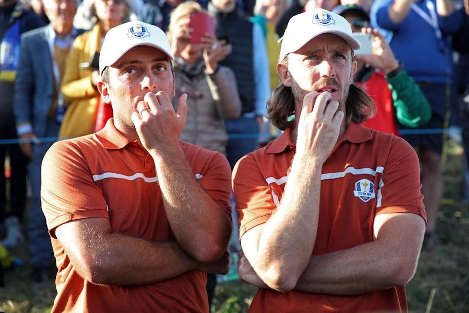 Francesco Molinari (left) and Tommy Fleetwood are unlikely to resume their partnership at Whistling Straits (Adam Davy/PA) (PA Archive)