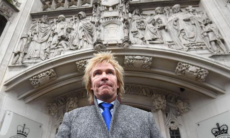 Pimlico Plumbers' chief executive, Charlie Mullins, outside the supreme court, in London