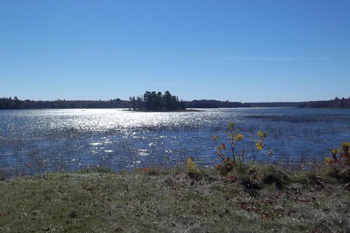 The source of the Mississippi River is Lake Itasca in northern Minnesota. <cite>Tim Sharp</cite>