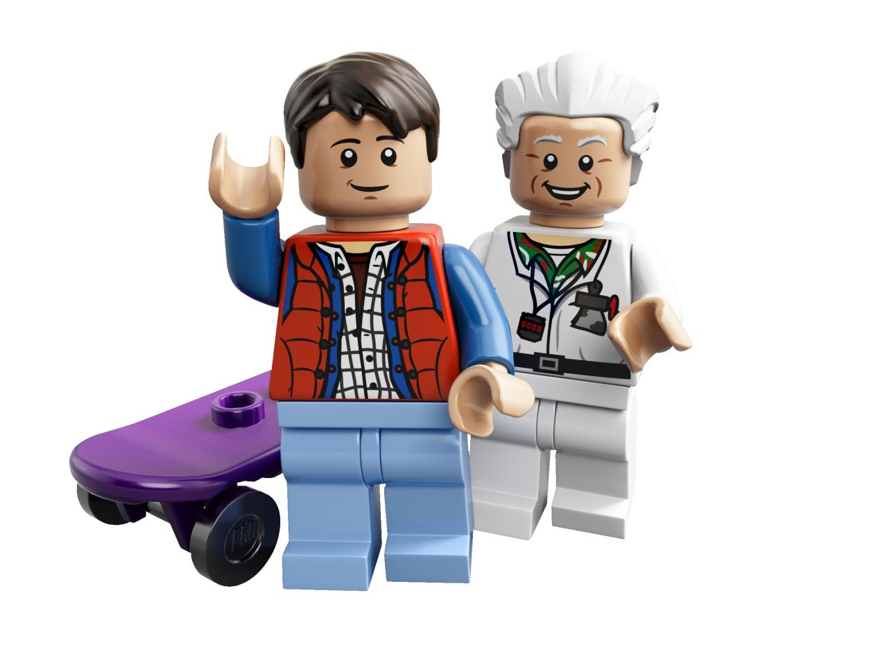 "<b>Marty McFly and Doc Brown from ""Back to the Future""</b><br />LEGO"